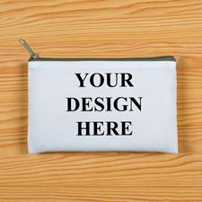 Grauer Zip Personalisierte Kosmetiktasche 24,1 x 33,0 cm Beide Seiten gleich