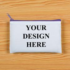 Violetter Zip Personalisierte Kosmetiktasche 24,1 x 33,0 cm Beide Seiten gleich