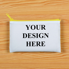 Gelber Zip Personalisierte Kosmetiktasche 24,1 x 33,0 cm Beide Seiten gleich