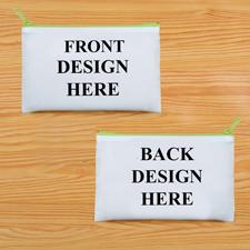 Schminkbeutel Vorne/Hinten Unterschiedlich Personalisieren 24,1 x 33,0 cm Reißverschluss Hellgrün
