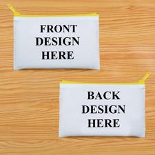 Schminkbeutel Vorne/Hinten Unterschiedlich Personalisieren 24,1 x 33,0 cm Reißverschluss Gelb