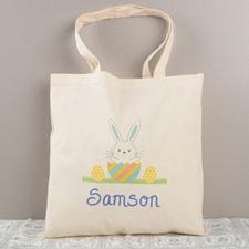 Boy Osterhase Budget Tasche Baumwolle Personalisieren