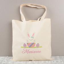 Girl Osterhase Budget Tasche Baumwolle Personalisieren