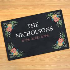 Blumenschmuck Türmatte Fußmatte Schmutzfangmatte Personalisieren