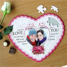Personalisiertes Herzpuzzle Für immer Dein