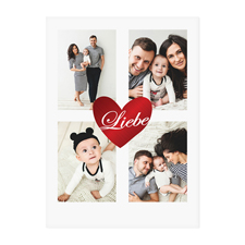 Herz Gold Metallbeschichtung Fotokarte Valentinstag Personalisieren 127x178