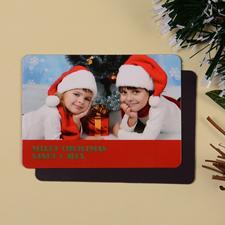Fröhliche Weihnachten Fotomagnet, Rot
