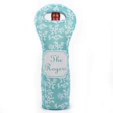 Riff  Aqua Weintasche aus Neopren Beide Seiten Personalisieren