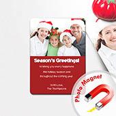Weihnachtliche Grüße Fotomagnet, Rot