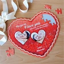 Personalisiertes Herzpuzzle Herzlichst