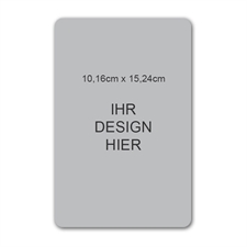 Photomagnet, 10,16 cm x 15,24 cm, Hochformat, gerundet