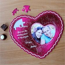 Personalisiertes Herzpuzzle Herz im Herzen