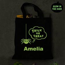Schwarze Tasche Personalisieren Halloween