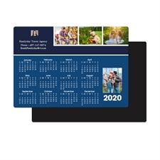 Collage Blau 2018 Fotomagnetkalender 8,9 cm x 12,7 cm Personalisieren