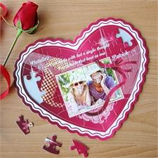 Personalisiertes Herzpuzzle Wahre Liebe