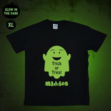 Halloween Monster Leuchtendes T-Shirt Glow Personalisieren Baumwolle Größe XL
