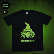 Leuchtendes T-Shirt Zauberlehrling Glow Personalisieren Baumwolle Größe XL