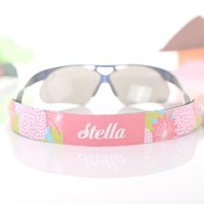 Sonnenbrillenband Pink Blumenmuster Band Personalisieren