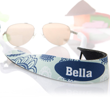 Aqua Blau Sonnenbrillenband Blumenmuster Band Personalisieren