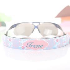 Aqua Wasserfarben Sonnenbrillenband Blumenmuster Band Personalisieren