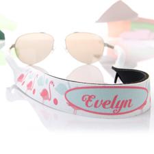 Aqua und Pink Flamingo Strand Sonnenbrillenband Blumenmuster Personalisieren