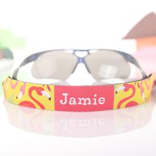 Gelb und Pink Flamingo Sonnenbrillenband Personalisieren