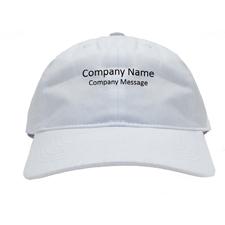 Baseballkappe für Betriebe Personalisieren Werbeträger Weiß