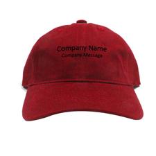 Baseballkappe für Betriebe Personalisieren Werbeträger Rot