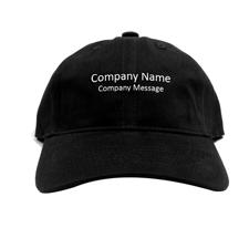 Baseballkappe für Betriebe Personalisieren Werbeträger Schwarz