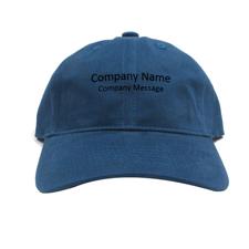 Baseballkappe für Betriebe Personalisieren Werbeträger Navy