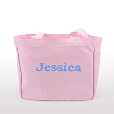 Glitzer Baumwolltasche Text Foto Personalisieren Accessoire Pink