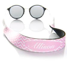 Monogramm Pink Sonnenbrillenband Personalisieren
