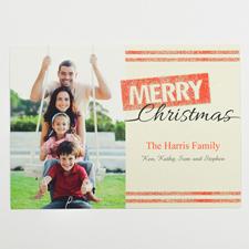 Glitzernde Schneeflocken Personalisierte Foto Weihnachtskarte 127x178