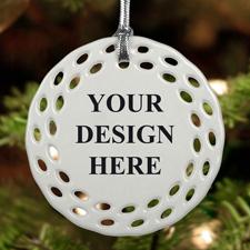 Rund und Bunt Personalisieren Keramik Schmuck Weihnachten