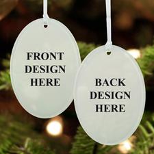 Acrylic Ornament Oval Shape Custom 2 Sides_Copy