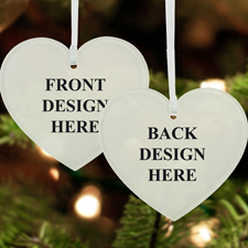 Custom Full Color Acrylic Ornament Heart Shape (2 Side)