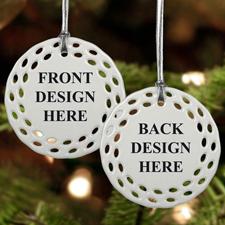 Rund Bunt Filigran Beidseitig Personalisieren Keramik Schmuck Weihnachten