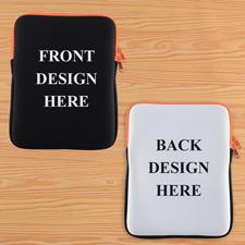 Orange New iPad & 2,3,4 Sleeve beidseitig personalisieren Hochformat 195 x 250 mm Neopren