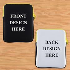 Gelb New iPad & 2,3,4 Sleeve beidseitig personalisieren Hochformat 195 x 250 mm Neopren