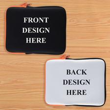 Orange New iPad & 2,3,4 Sleeve beidseitig personalisieren Querformat 195 x 250 mm Neopren