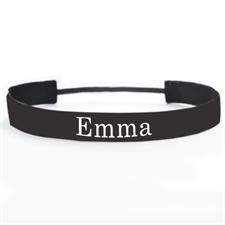Schwarzes Stirnband für Athleten Personalisieren 25 mm
