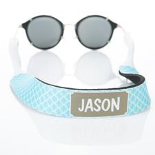 Monogramm Aqua Kettenmuster Sonnenbrillenband Personalisieren