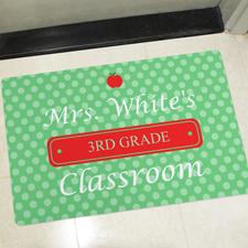 Klassenzimmer Pünktchen Punkte Türmatte Fußmatte Schmutzfangmatte Personalisieren