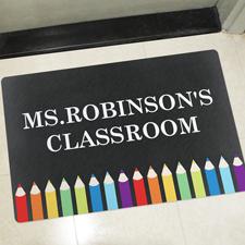 Klassenzimmer Bunte Türmatte Fußmatte Schmutzfangmatte Personalisieren