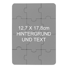 Magnetischpuzzleeinladung, Hochformat, 12,7 x 17,8 cm