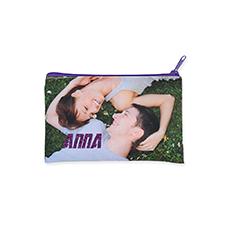 127 x 203 mm Glitzer Kosmetiktasche Beidseitig Personalisieren Reißverschluss purple