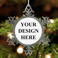 Schneeflocke Personalisierter Weihnachtsschmuck Zinn