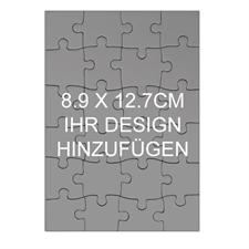 Kleines Puzzle als Einladung Holz Hochformat 89 x 127 mm 24 Teile