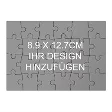 Kleines Puzzle als Einladung Holz Querformat 89 x 127 mm 24 Teile