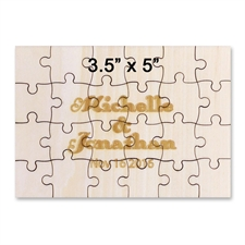 Baby Holzpuzzle 89 x 127 mm 24 Teile Querformat Personalisieren